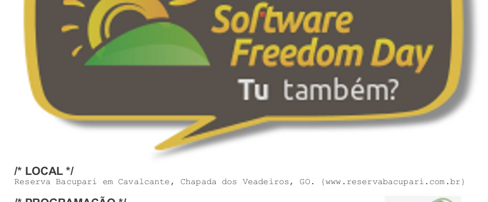 software freedom day Cavalcante GO Brasil