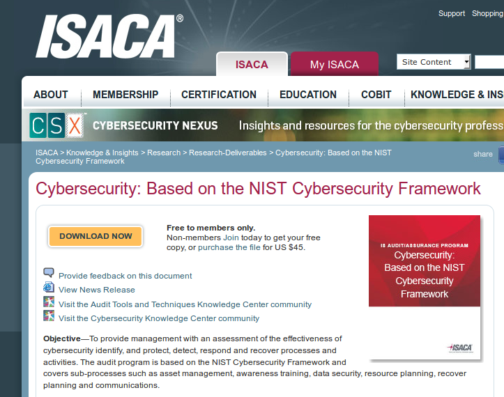 ISACA cybersecurity
