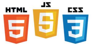 html css js