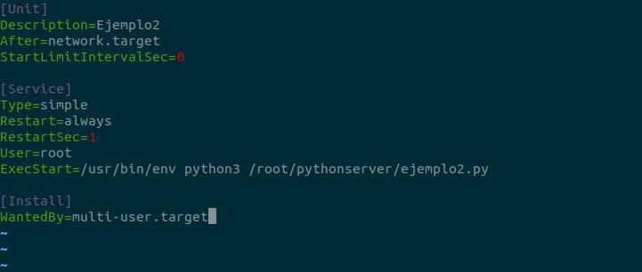 linux systemd servicio