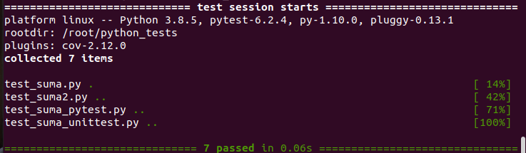 python tests